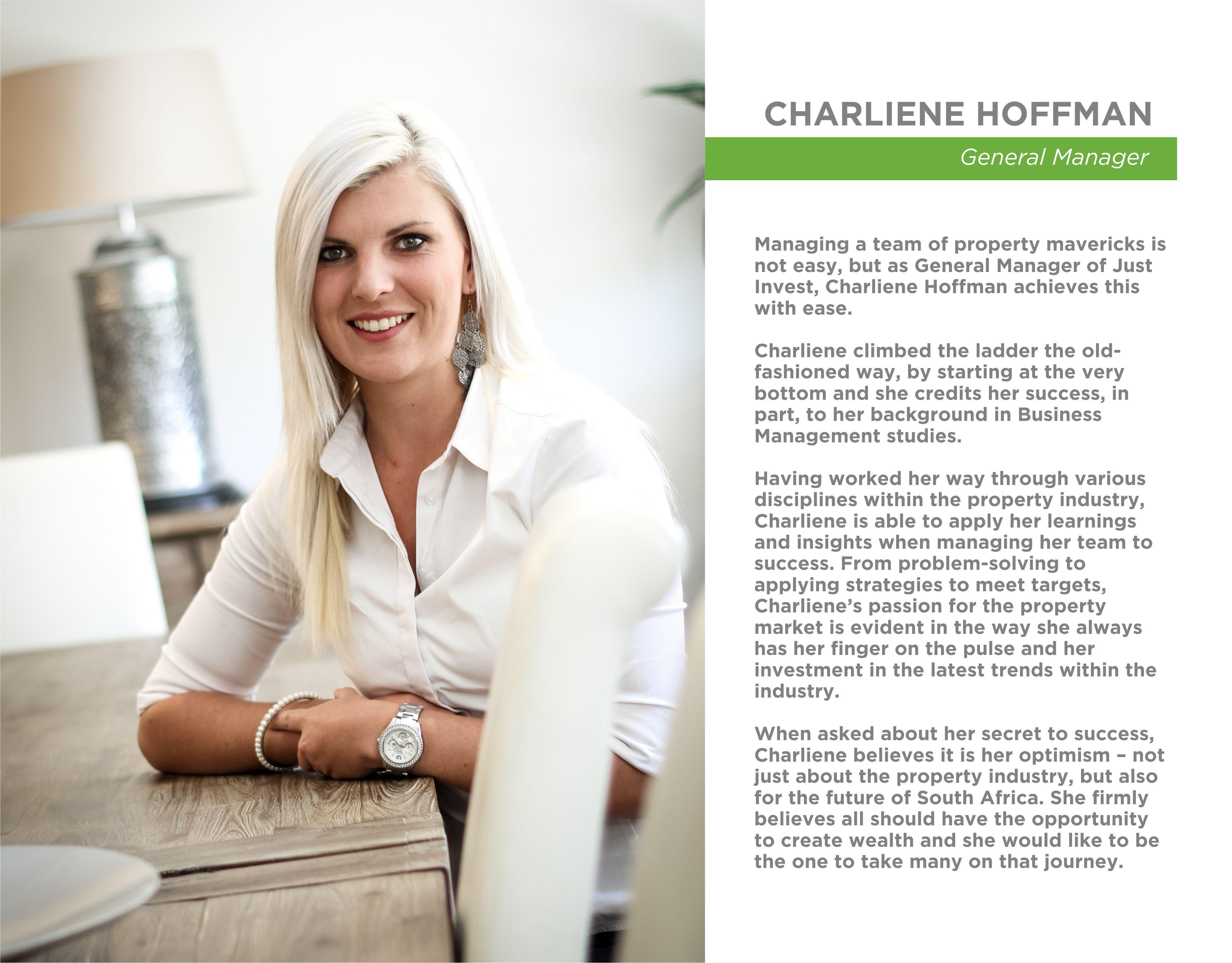 NEW STAFF BIO - Charliene Hoffman