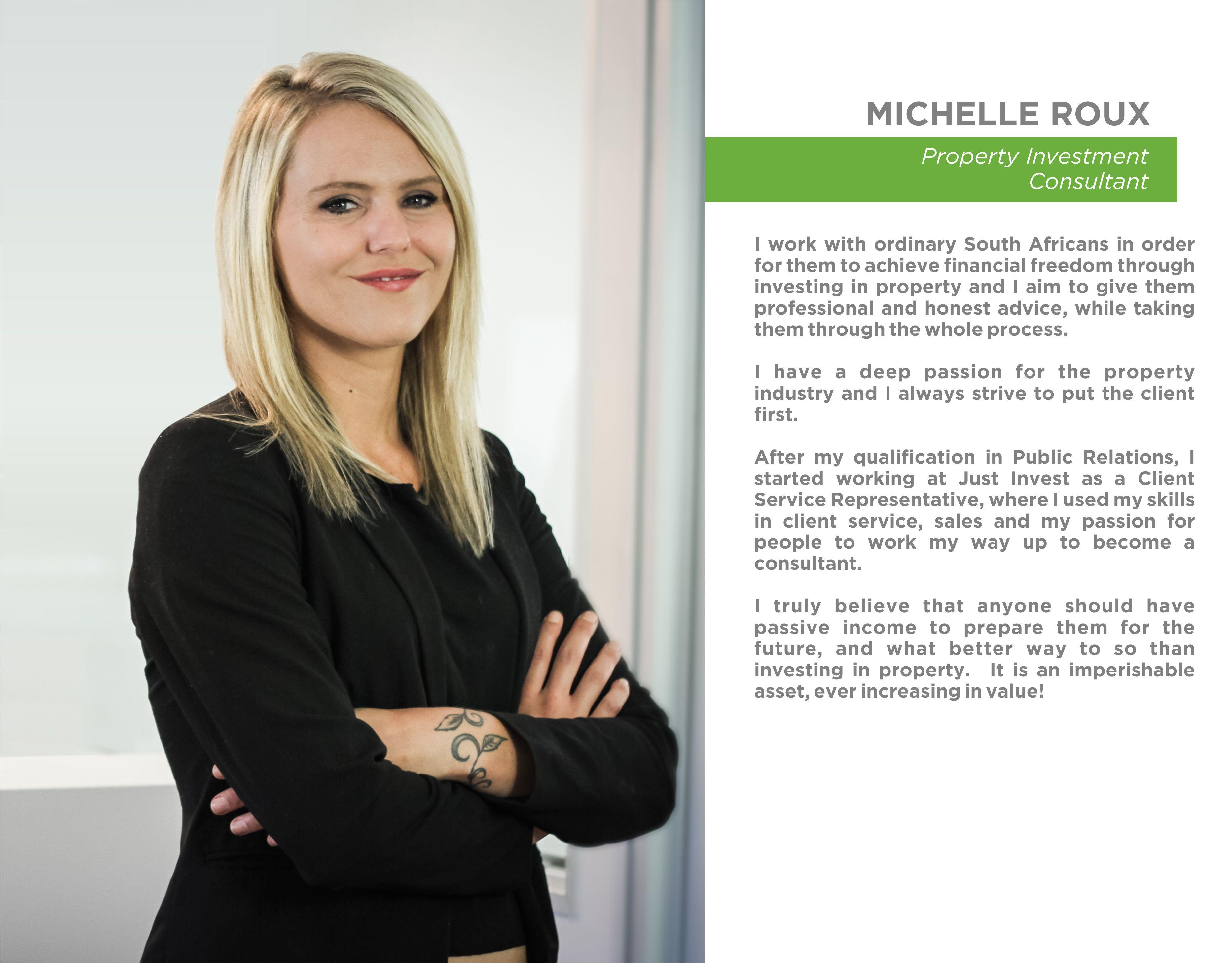 NEW STAFF BIO - Michelle Roux